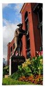 Stan Musial Statue Bath Towel