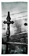 Standing Guard By Loved Ones - Bw Texture Bath Towel