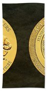 Standing Rock Sioux Tribe Code Talkers Bronze Medal Art Bath Towel