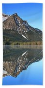Stanley Lake Sawtooth Mountains Bath Towel