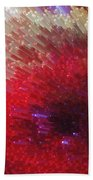 Star Burst - Red Abstract Art By Sharon Cummings Bath Towel