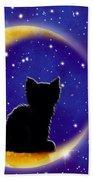 Star Gazing Cat Bath Towel