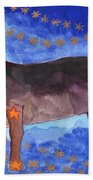 Star Sign Taurus Bath Towel
