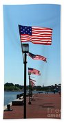Star Spangled Banner Flags In Baltimore Bath Towel