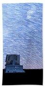 Star Trails Above Subaru Telescope Bath Towel