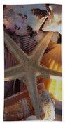 Starfish And Sun Rays Bath Towel
