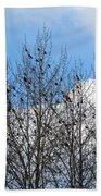 Starlings In The Cottonwoods Bath Towel