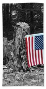 Stars And Stripes With Selective Color Bath Towel