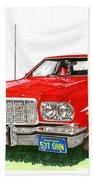 Starsky Hutch 1974 Ford Gran Torino Sport Bath Towel