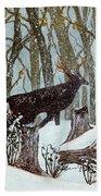 Startled Buck - White Tail Deer Hand Towel