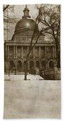 State Building Boston Massachusetts Circa 1900 Bath Towel
