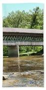 State Road Covered Bridge Bath Towel