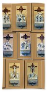Stations Of The Cross Collage Bath Towel