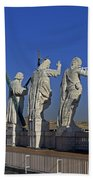 Statues On Facade Of St Peters Bath Towel
