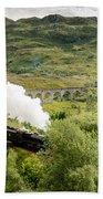 Steam Engine On Glenfinnan Viaduct Bath Towel