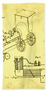 Steam Engine Patent 1869 Bath Towel