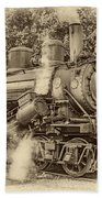 Steam Power Sepia Vignette Bath Towel