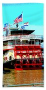 Steamer Natchez Paddleboat Bath Towel