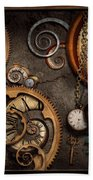 Steampunk - Abstract - Time Is Complicated Bath Towel