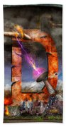 Steampunk - Alphabet - D Is For Death Ray Bath Towel