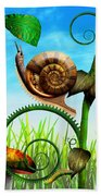 Steampunk - Bugs - Evolution Take Time Bath Towel