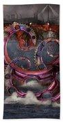 Steampunk - Enteroctopus Magnificus Roboticus Bath Towel