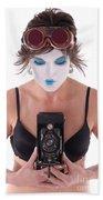 Steampunk Geisha Photographer II Hand Towel