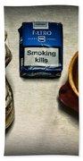 Steampunk Smoking Break Bath Towel
