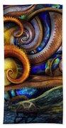 Steampunk - Starry Night Bath Towel