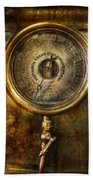 Steampunk - The Pressure Gauge Bath Towel