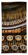 Steampunk - Typewriter - Underwood Bath Towel
