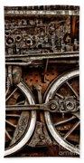 Steampunk- Wheels Locomotive Bath Towel