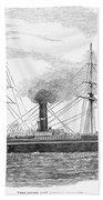 Steamship, 1853 Bath Towel