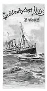 Steamship Menu, 1901 Bath Towel