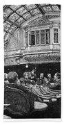 Steamship: Saloon, 1890 Bath Towel