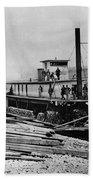 Steamships, C1864 Bath Towel
