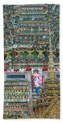 Steep Stairs Lead To Higher Level Of Temple Of The Dawn-wat Arun In Bangkok-thailand Bath Towel