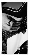 Stella Burns - Guitar Close-up Bath Towel