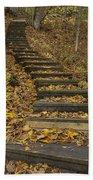Step Trail In Woods 11 Bath Towel