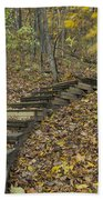 Step Trail In Woods 12 Bath Towel