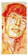 Stephen Hawking Portrait Bath Towel