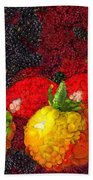Still Life Tomatoes Fruits And Vegetables Bath Towel
