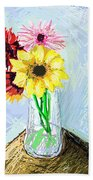 Still Life With Flowers Bath Towel