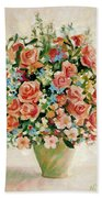 Still Life With Roses Bath Towel