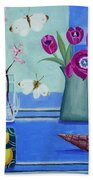 Still Life With Sea View Sold Bath Towel