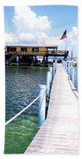 Stiltsville Dock Bath Towel