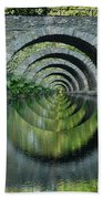 Stone Arch Bridge Over Troubled Waters - 1st Place Winner Faa Optical Illusions 2-26-2012 Bath Towel