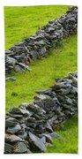 Stone Fences In Ireland Bath Towel