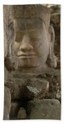 Stone Figures Cambodia Bath Towel