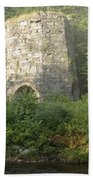 Stone Iron Furnace - Franconia New Hampshire Bath Towel
